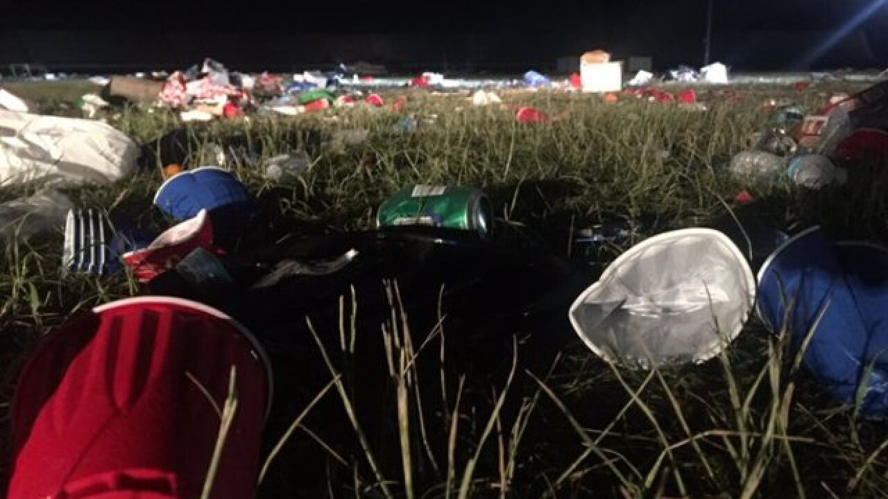 Trash at the 500: There's a lot of it