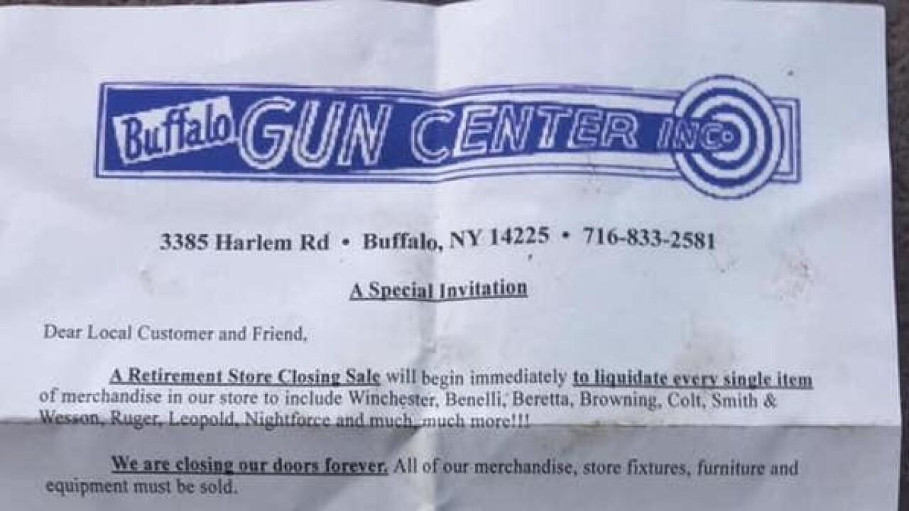 timeless design aebbd 211d4 Buffalo Gun Center set to close its doors