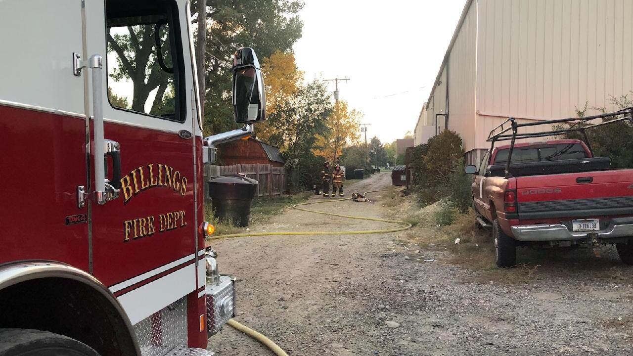 Firefighters responding to structure fire in central Billings