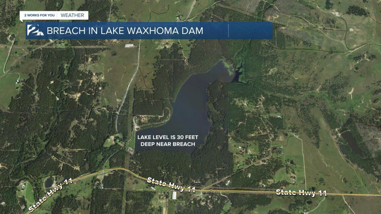 GRAPHIC: Lake Waxhoma depth