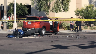 Car vs. Motorcycle accident Scottsdale Road and Oak -10/26/19