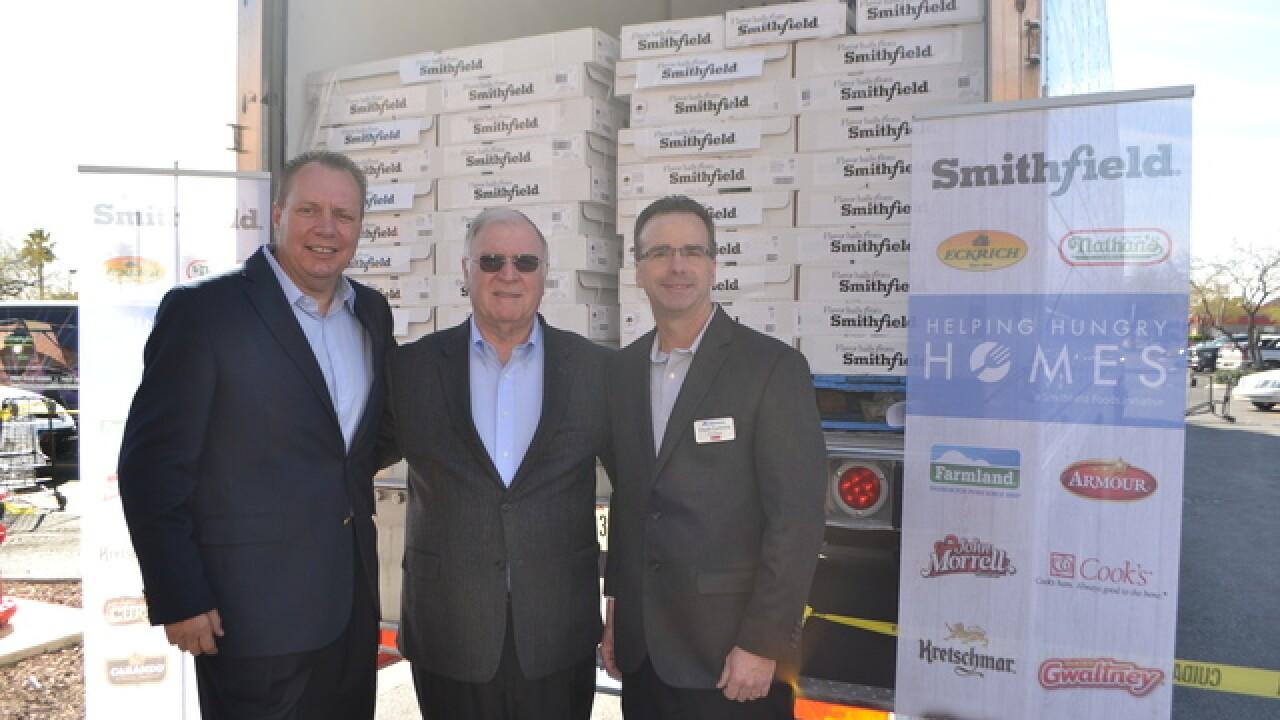 Smithfield's donates protein to Three Square