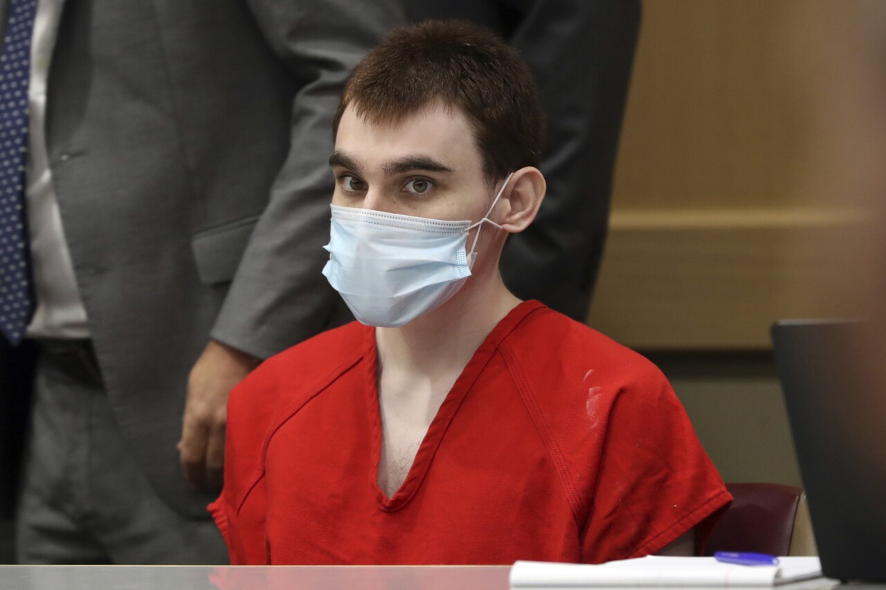 Nikolas Cruz wearing mask in court, July 14, 2021