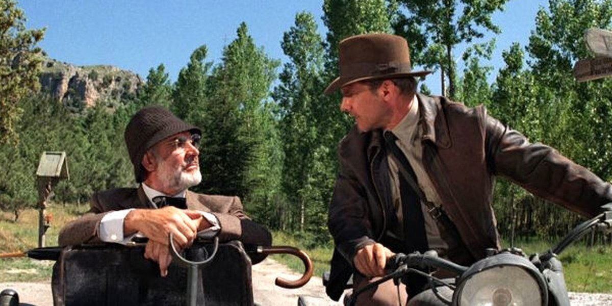 Sean Connery and Harrison Ford in 'Indiana Jones and the Last Crusade'
