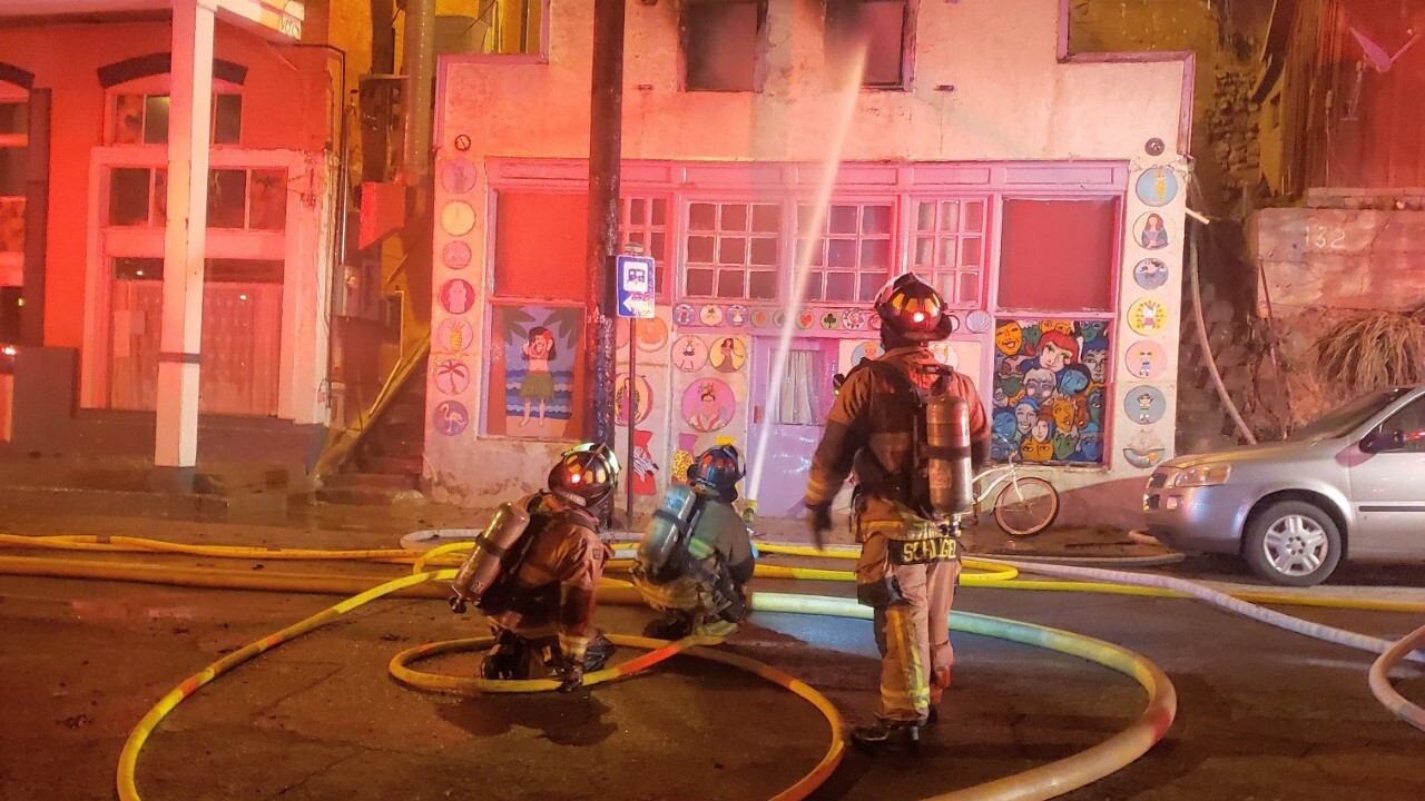 Fire in Old Bisbee 2