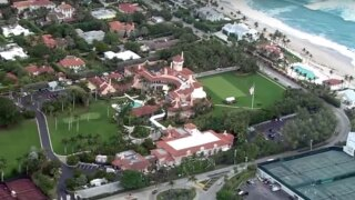 Mar-a-Lago, aerial picture from Chopper 5