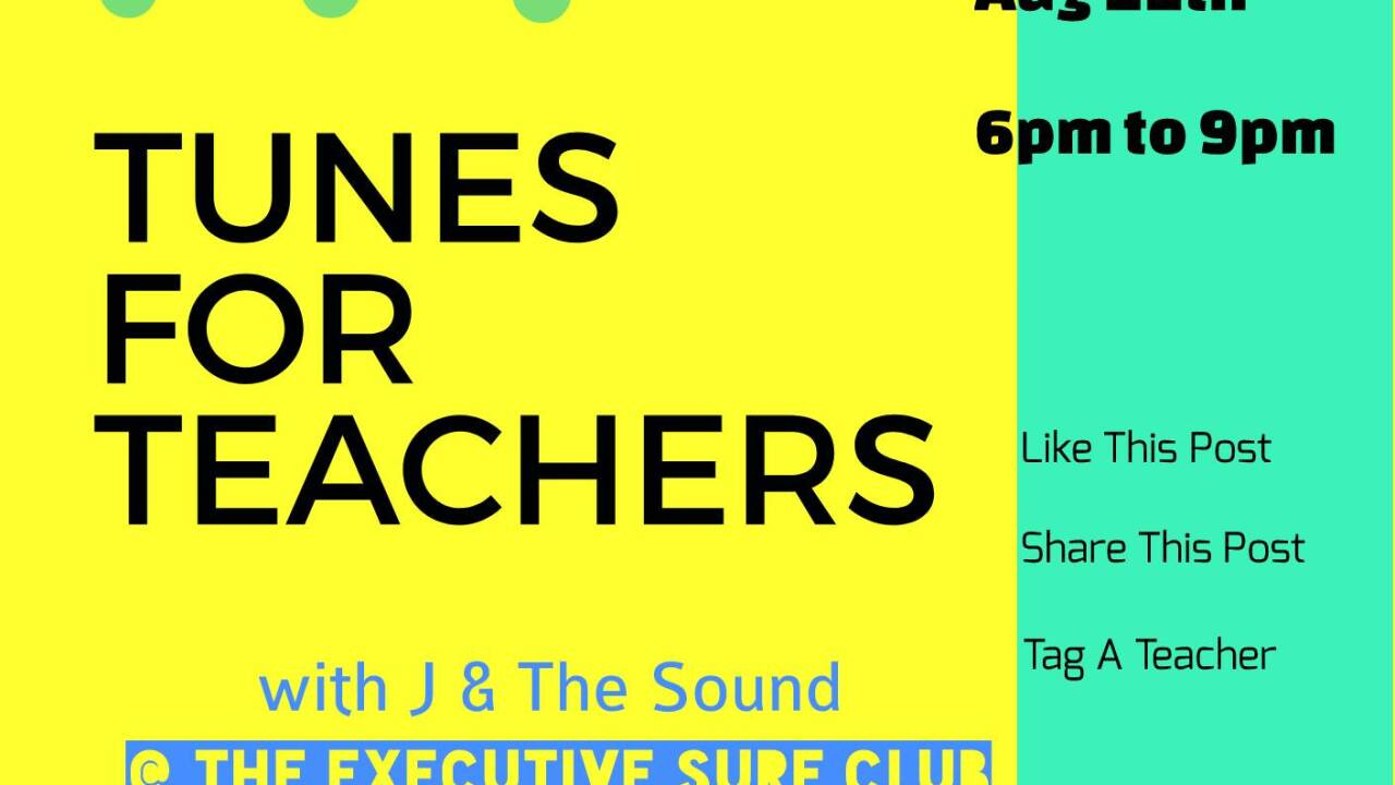 J and The Sound - ‎Tunes for Teachers Fundraiser Facebook page.jpg