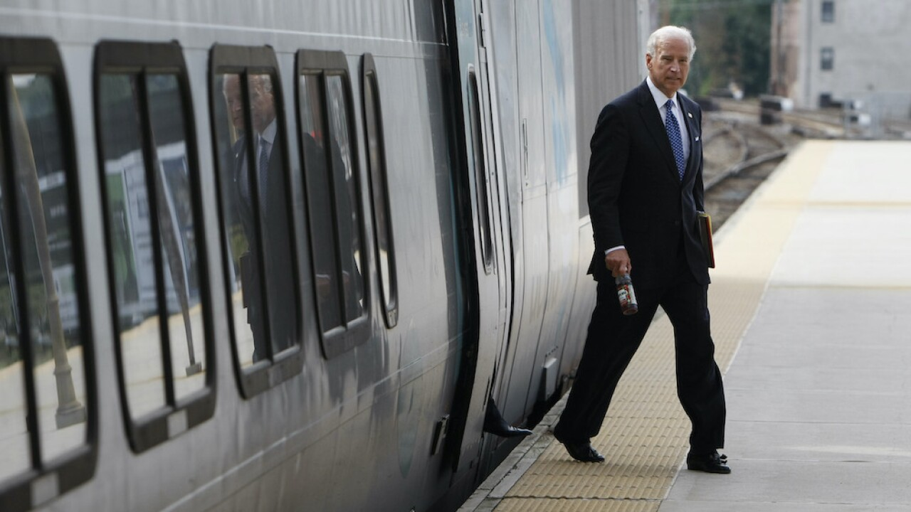 President Joe Biden train
