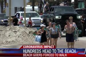 Port Aransas beach crowds