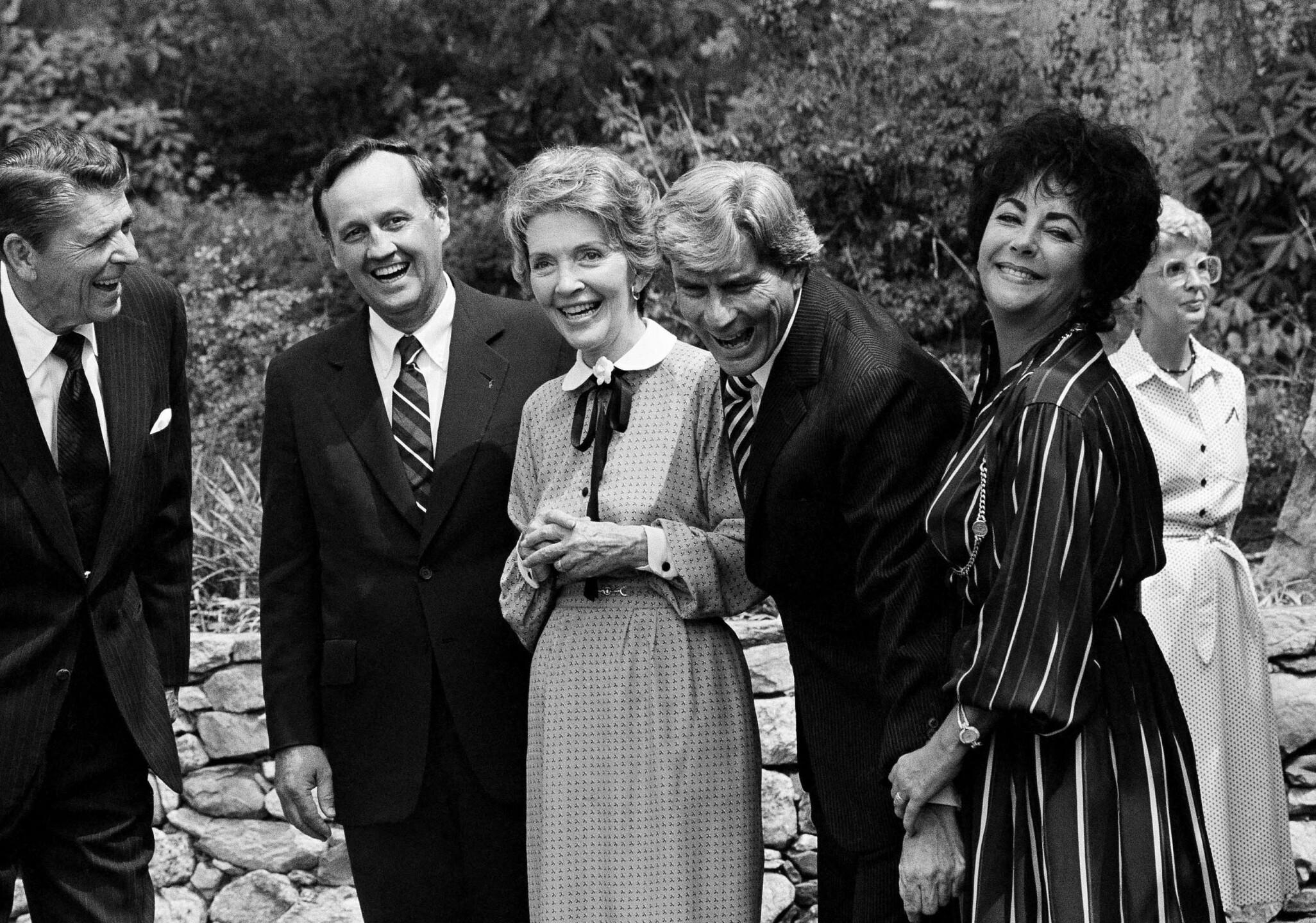 Nancy Reagan, Elizabeth Taylor and John Warner
