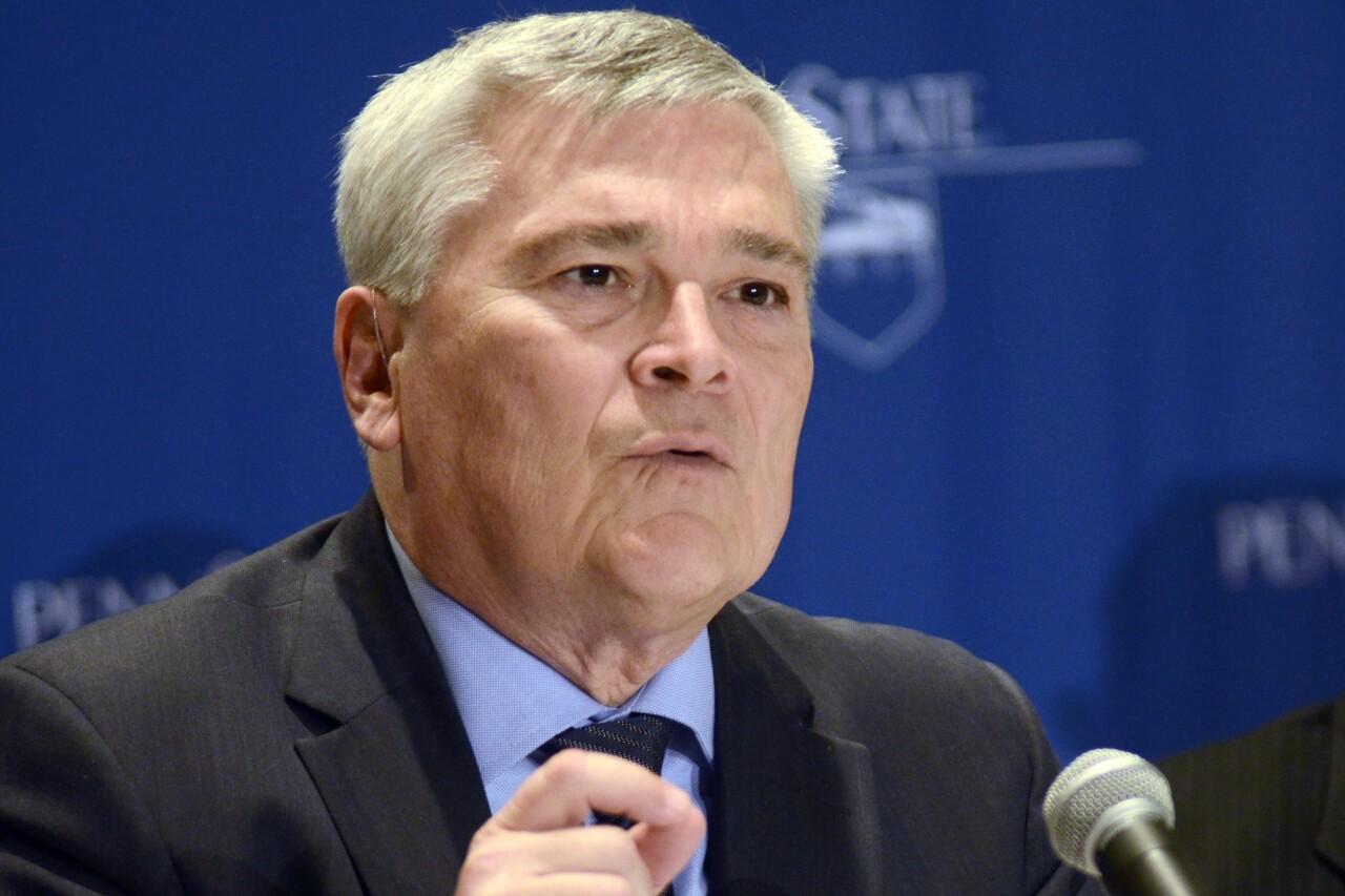 Eric Barron, president of Penn State, in 2018