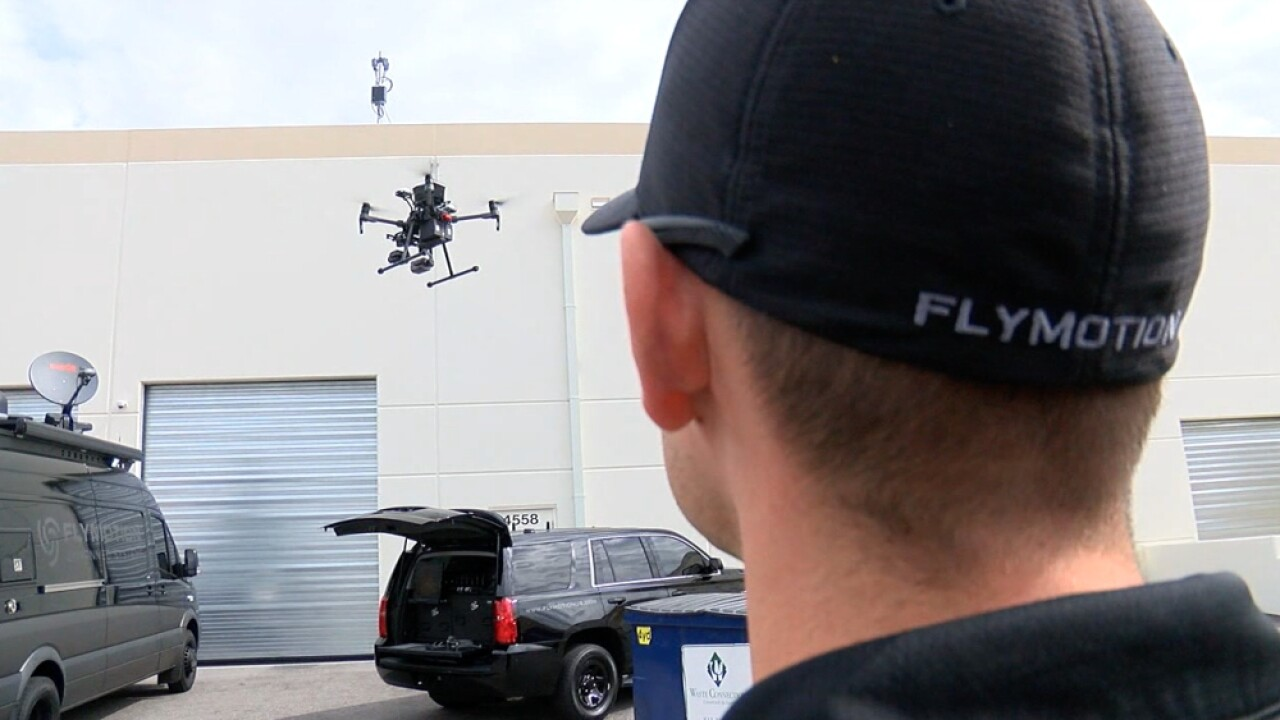 Flymotion drone surveillance police
