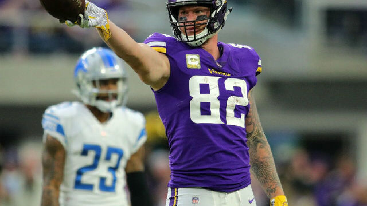 competitive price 9532f a34a7 Former Elder standout Kyle Rudolph nominated for the Walter ...
