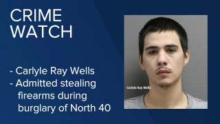 Carlyle Ray Wells admitted in federal court in Great Falls to stealing firearms during a burglary of North 40