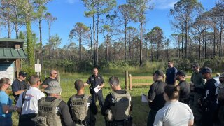 Law enforcement gathers to look for Brian Laundrie