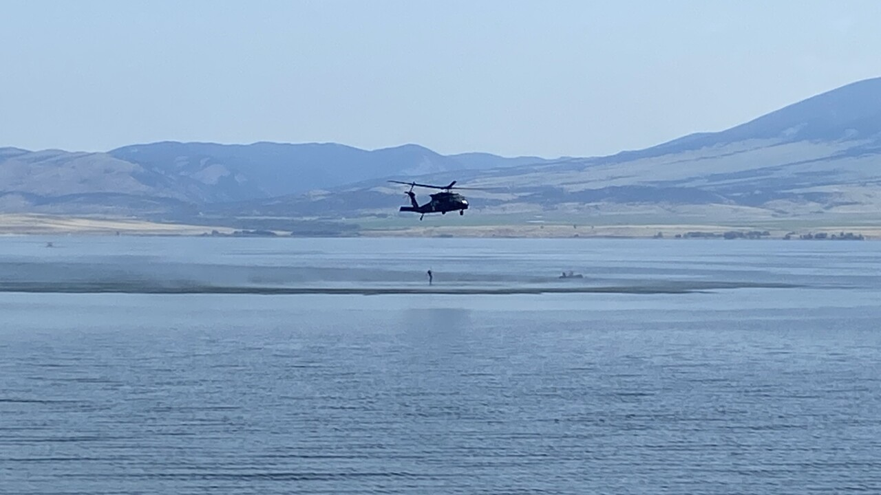 Montana National Guard crews train for water rescues at Canyon Ferry Lake