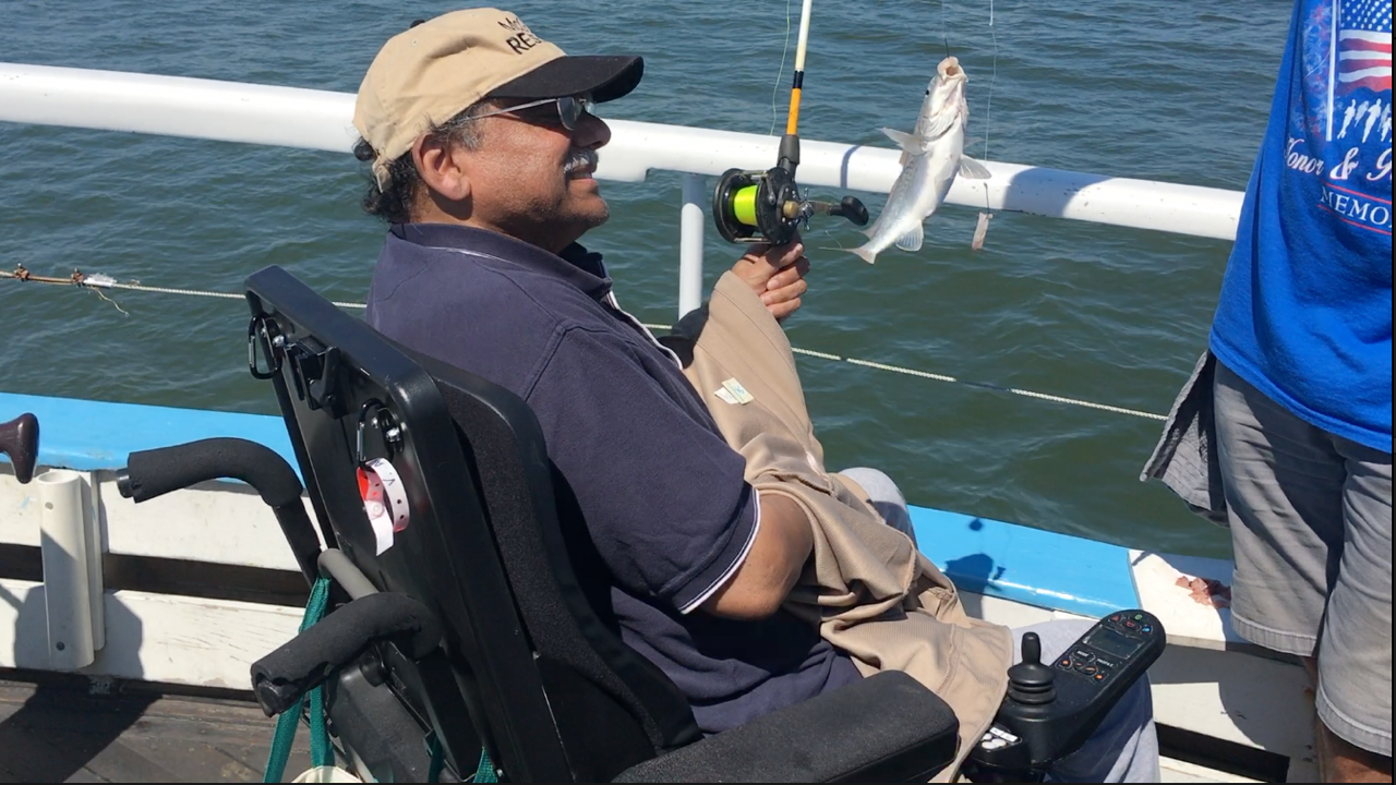Veterans with spinal injuries get a day out on the water inYorktown