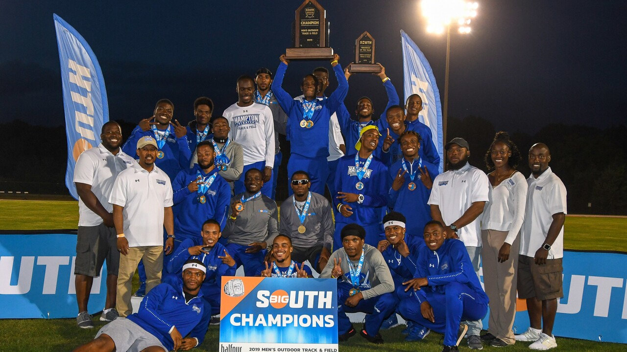 Hampton sweeps outdoors men's and women's Big South Track & Field Championships