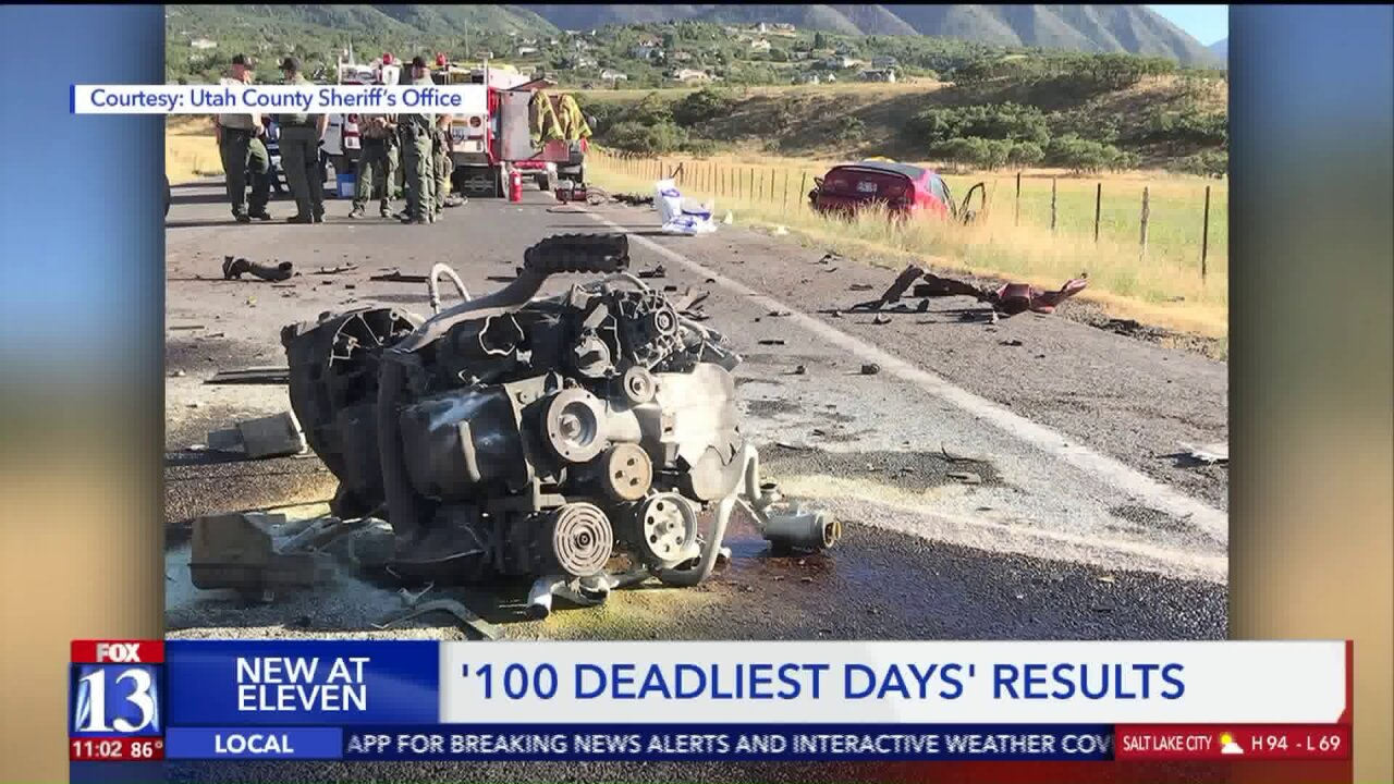 Utah sees fewer deaths on roads during stretch of summer known as '100 Deadliest Days'