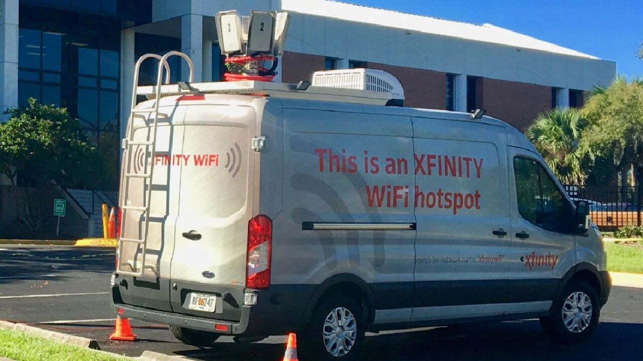 Comcast opens free Xfinity WiFi hotspots across Florida as