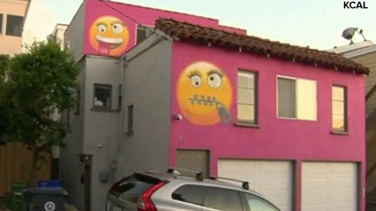 KCAL Emoji house