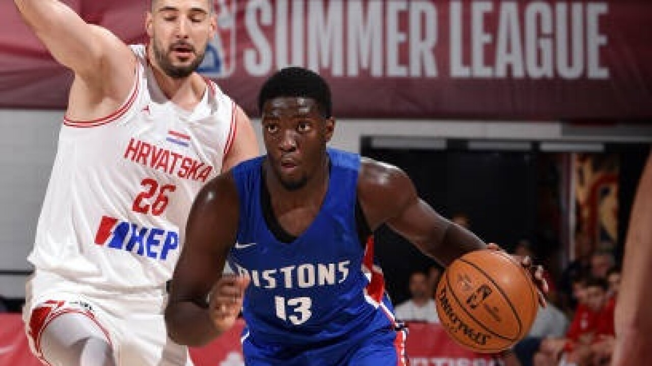 Pistons beat Croatian national team in Summer League opener