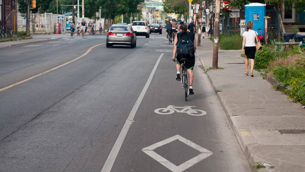 Bike lane on street