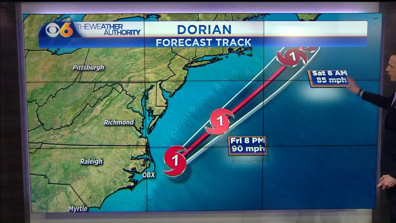 🌀Hurricane Dorian is moving away from thecoast