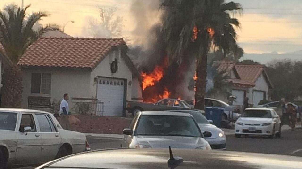 Crews responding to Monday garage fire