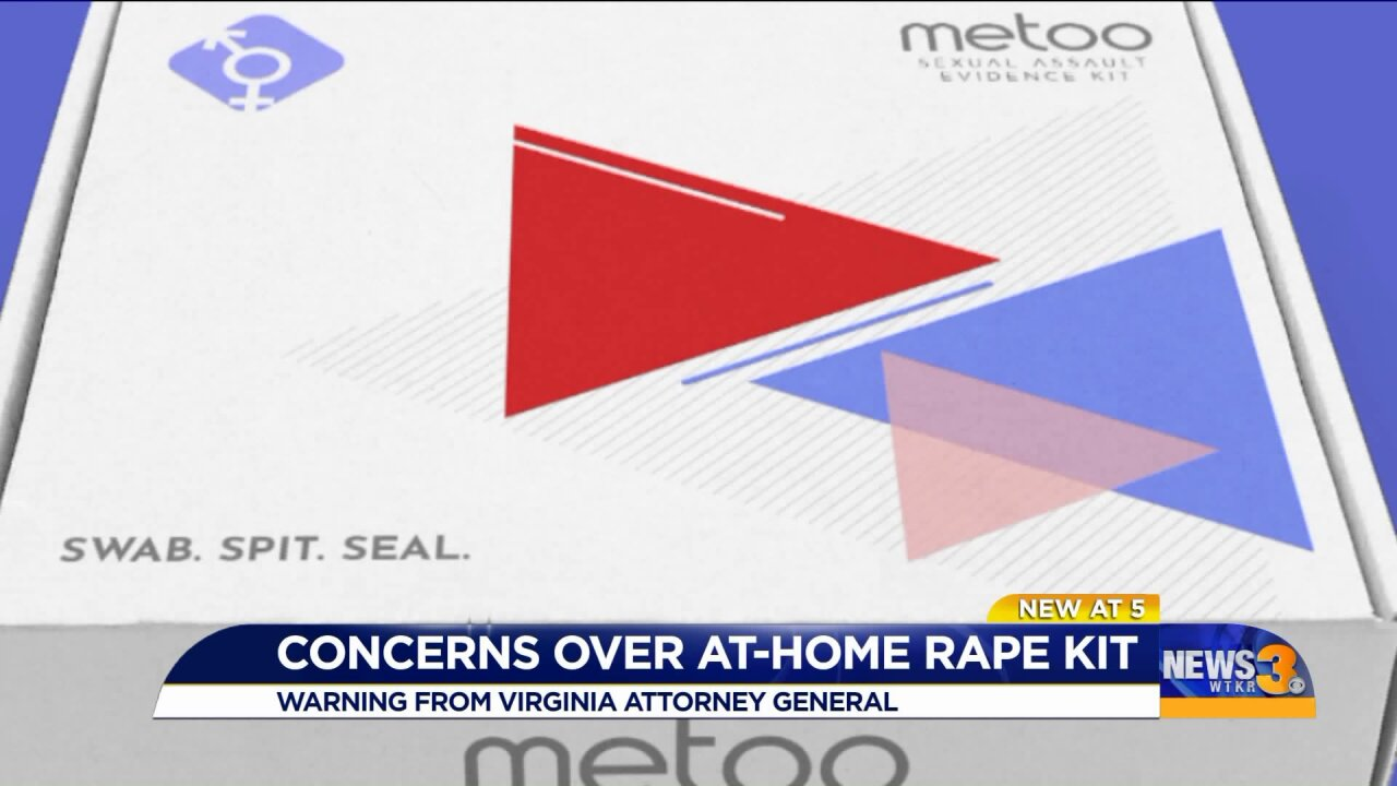 Virginia Attorney General warns about at-home rape test kits
