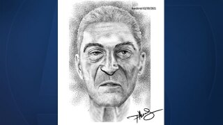 Artist rendering of a man whose remains found