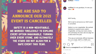 Screen Shot: 2021 M3F Fest canceled