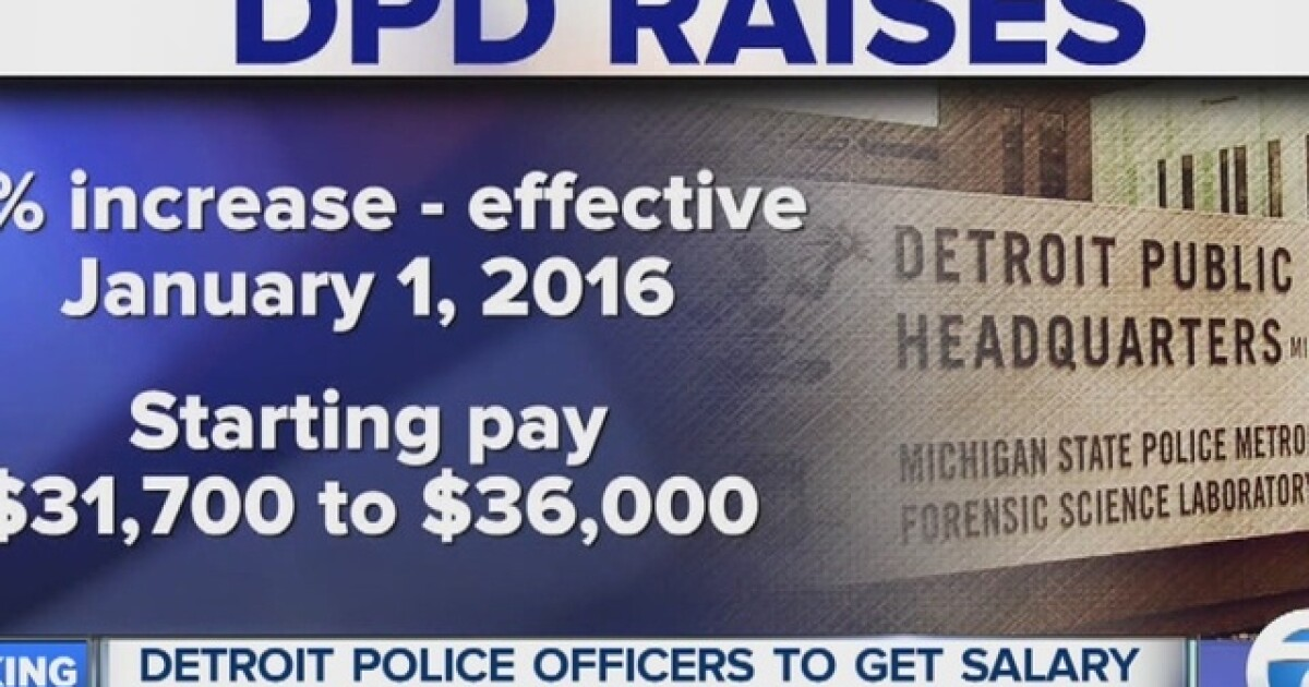 Detroit police officers getting 4% raise in 2016