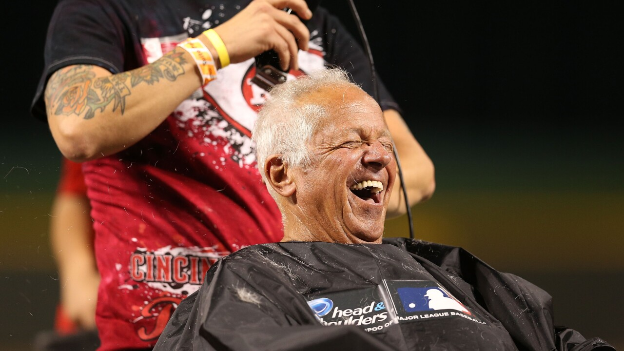 Marty Brennaman Gets His Head Shaved