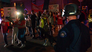 Anti-ICE protesters march in administrator's Aurora neighborhood