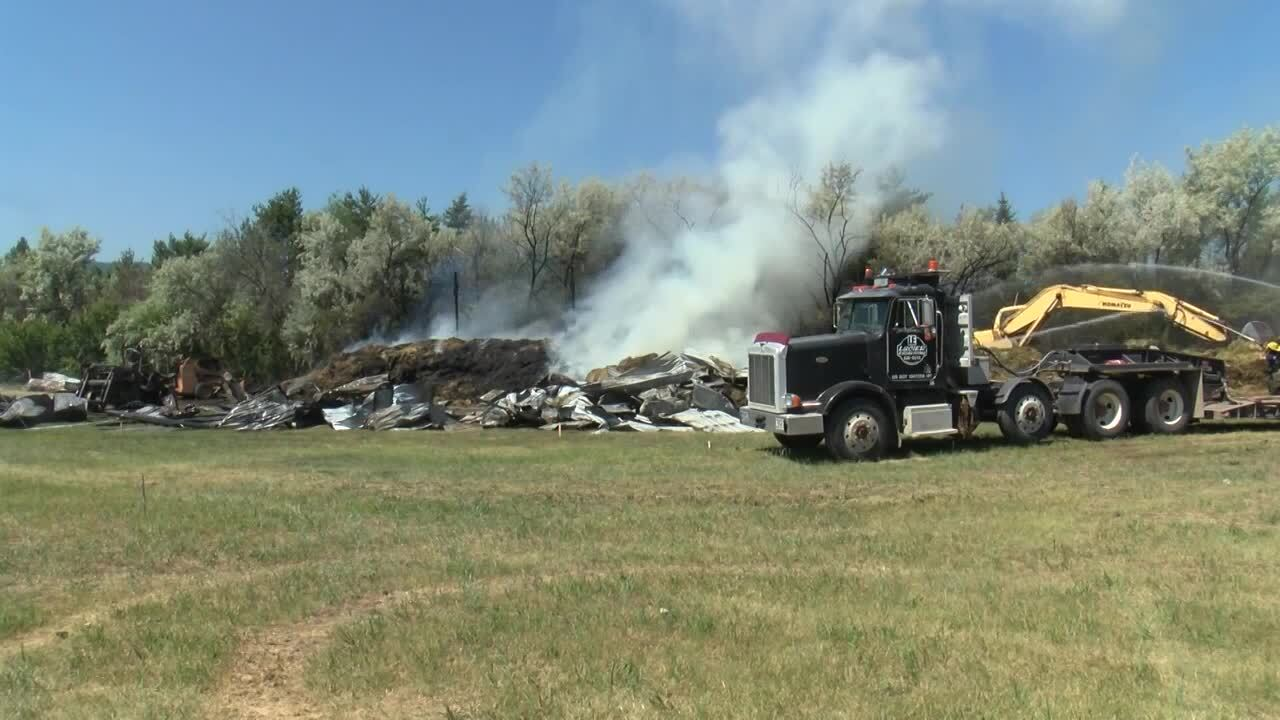 Fire destroys 6,000 bales of hay in Frenchtown