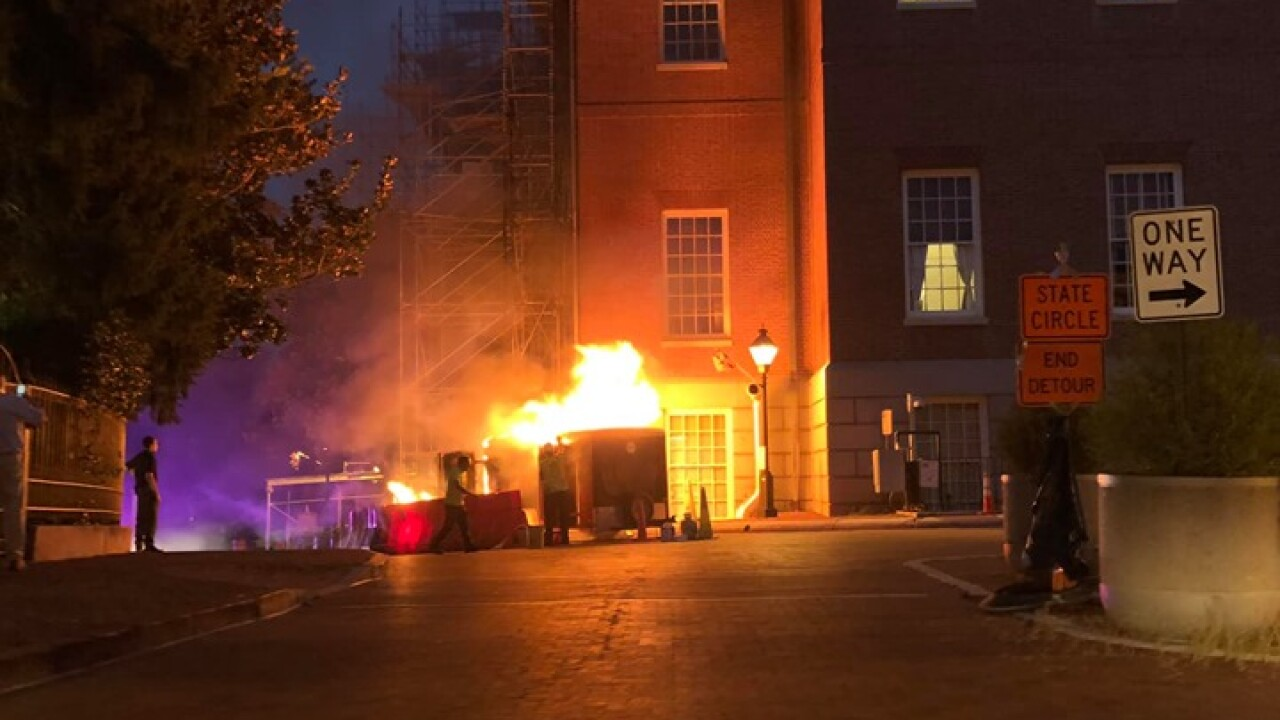 Trailer Fire near Annapolis State House