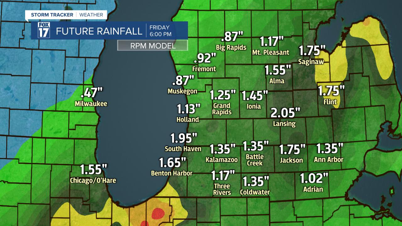 Rainfall Tonight - Friday A.M.