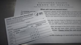 COVID-19 vaccine vaccination card