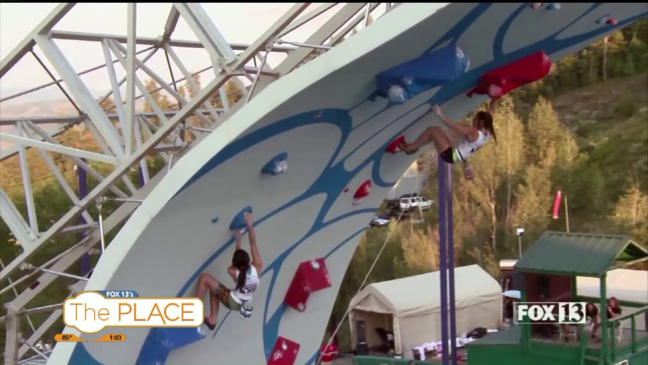 Rock Climbing Competition in Park City uses no harnesses or ropes