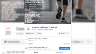 Virtual work out challenge aims to give back