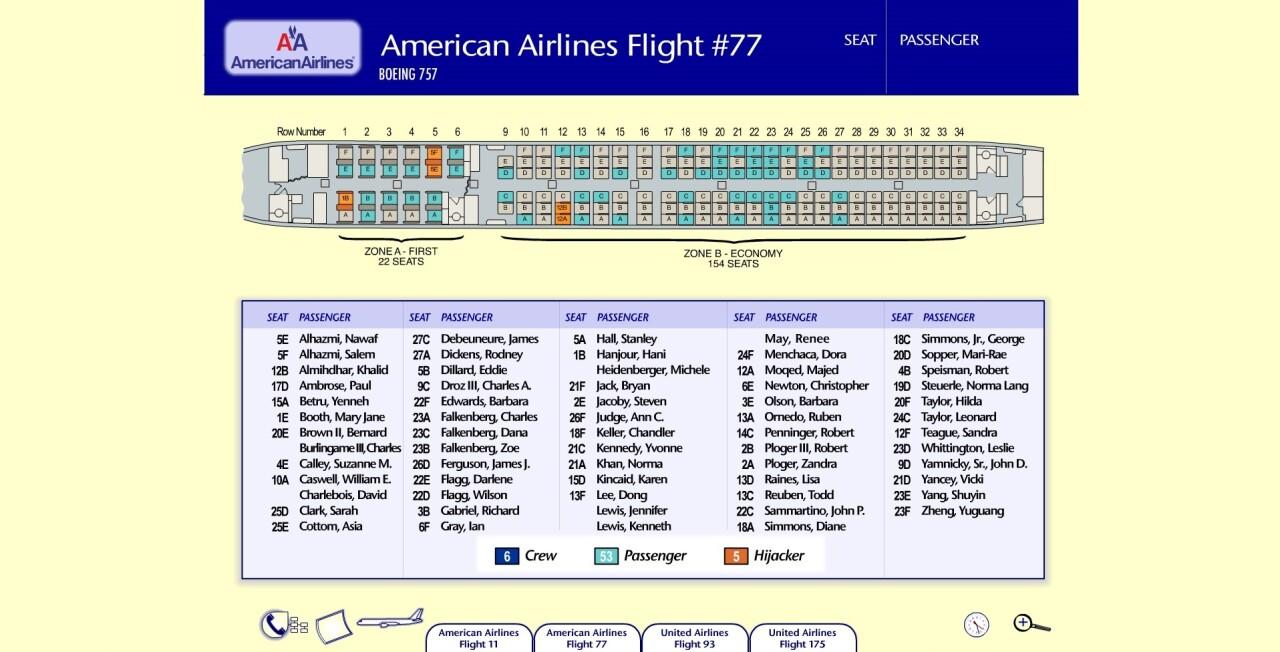 AA77 Seating Chart