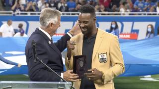 Calvin Johnson Pro Football Hall of Fame ring ceremony