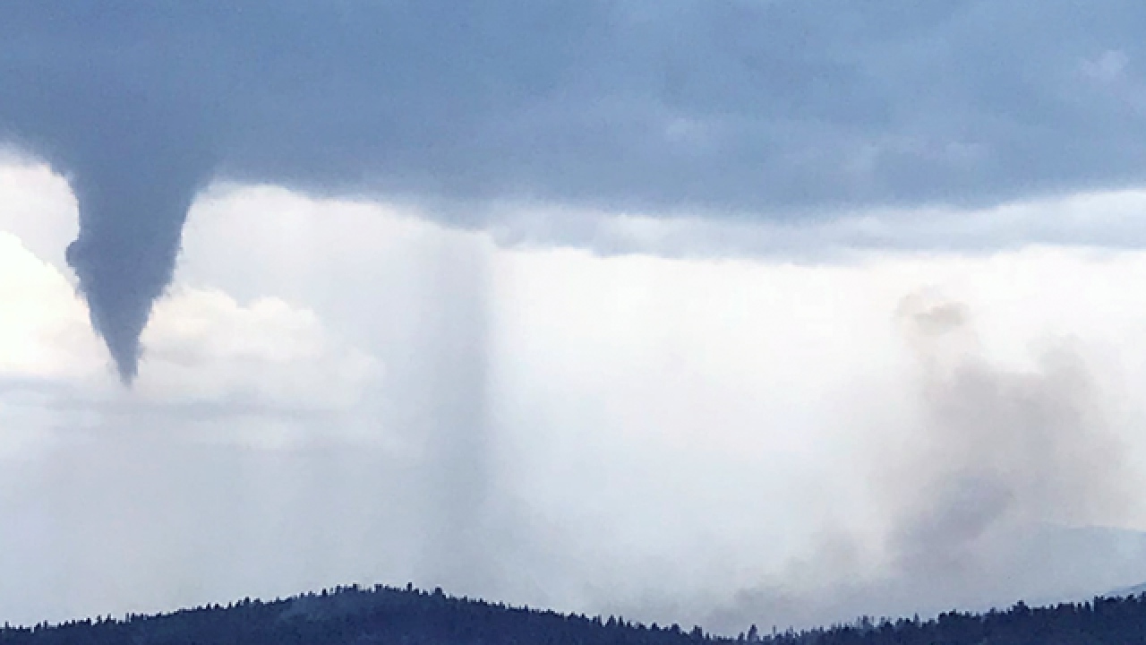 Photo captures rare tornado forming in mountains