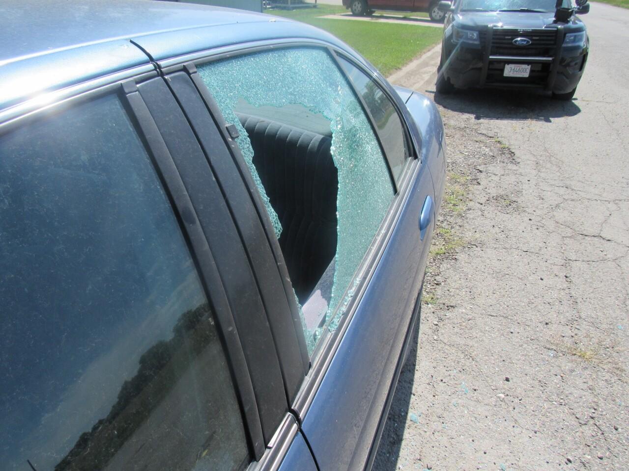 Laurel car smashed in