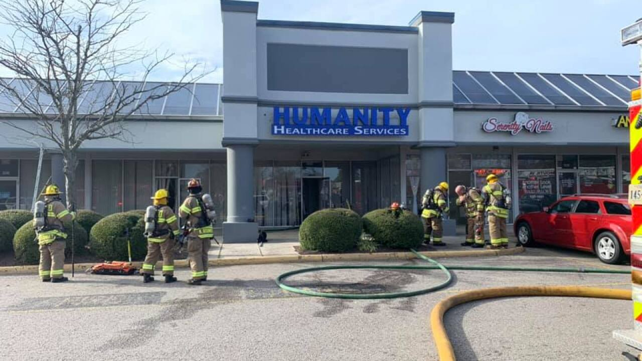 No injuries after Portsmouth business catches fire