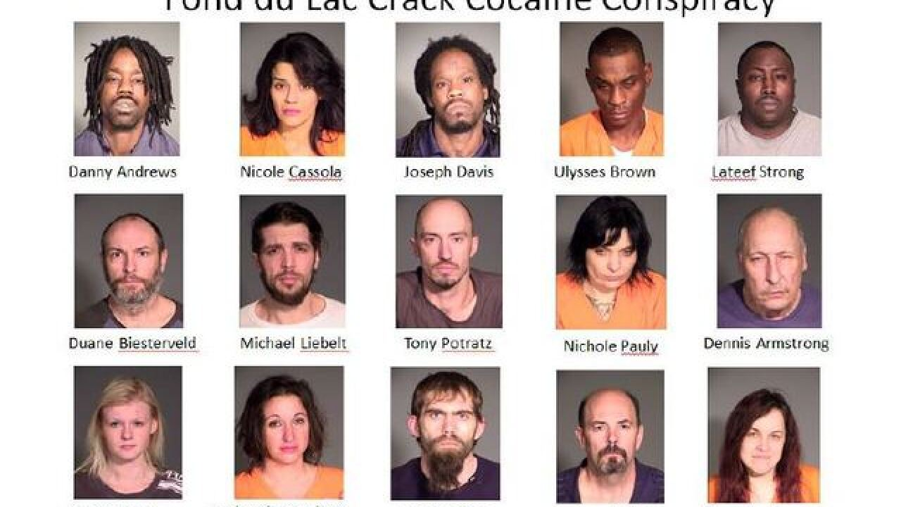 16 people accused of distributing $9.6 million worth of drugs in Fond du Lac County