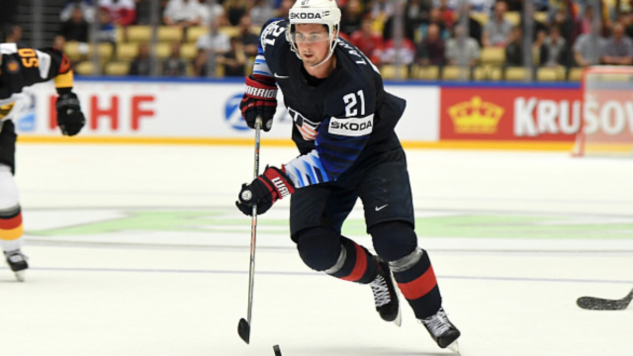 Dylan Larkin keeps producing at Worlds as USA tops Latvia in OT