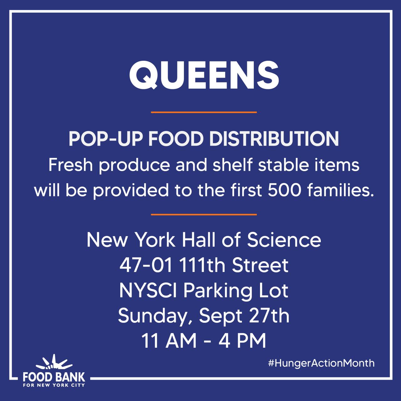Queens food bank