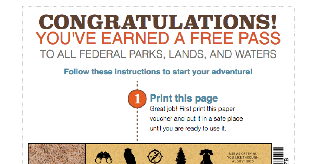4th graders can get a free national parks pass
